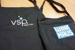 Barista Branded Wink Haus and VSP Aprons