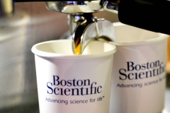 Boston Scientific Branded Coffee Cups Close Up
